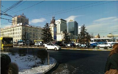 モンゴルの街の風景写真